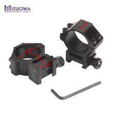 MIZUGIWA Hunting High Scope Mount 30mm Rings for Weaver Picatinny 20mm Rail For Optics Sight Pistol Airsoft Accessories Caza