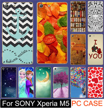 Classic Print Love You Beer Moon Cute Littel Girl PC Hood Carcase Cases For SONY Xperia M5 Mobile Phone Case Shell Back Cover