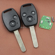 315MHZ ID48 2B 3B Blank Key Shell Replacement For Honda Accord Odyssey Civic Car Key 2006 2007 With Logo Free Shipping