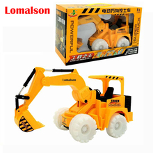 Child Boy Toy Excavator Electric Music Light Bulldozers Engineering Digging Truck Flash Toys Luminous Model Toy Retail