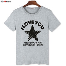 BGtomato Factory store cheap price original brand t-shirts The lovers stars printing shirts summer casual tops drop shipping 235(China)