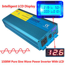 Digital Display 1500W 3000W Peak Pure Sine Wave Power Inverter DC 12V to AC 220V 230V 240V Converter Supply Solar Power