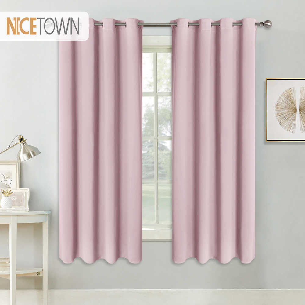 NICETOWN Blackout Curtains Room Darkening Drapery for Kids Bedroom Triple Weave Home Decoration Light Blocking Solid Curtain