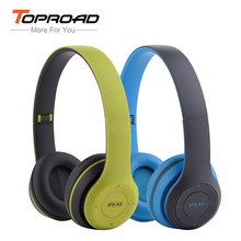 P47 Foldable Bluetooth Headphones Wireless Stereo Headset With Microphone FM Radio TF Card Earphone Headset for Smart Phone