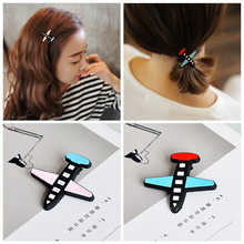 2017 New Plane Hair Clips Japan Harajuku Style Fashion Hair Sticks Girls Women Headwear Accessories Hairpins Elastic Barrette