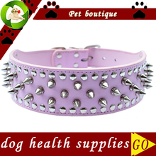 Personalized Pitbulls Spiked Dog Collar 2 Inch Wide Pu Leather Collars For Big Dogs Large Pet Products Dog Supplies