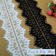 9.5CM wide eyelash lace trim for garment decoration crown design  trim ribbons diy craft lace 9 yards per lot free shipping