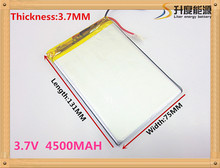 best battery brand 3775131 3.7V 4500mah Lithium polymer Battery For iPad 3 Tablet PCs PDA Digital Products Free Shipping