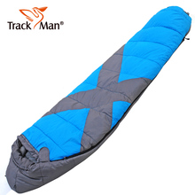 Trackman Camping Sleeping Bag Adult Tents Cotton Filler Envelope Outdoor Warm Spring Autumn Hiking Bags 215*80CM TM3301(China)