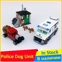 Police Dog Unit 60045 Building Blocks Model Educational Toys For Children BELA 10419 Compatible City Bricks Figure Set(China)