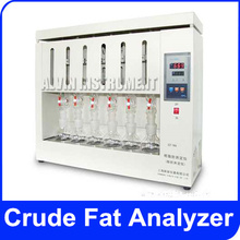 Free Shipping Crude Fat Analyzer Meter Tester  for grain, food, feed, fuel and various oil products  test 6 samples at same time