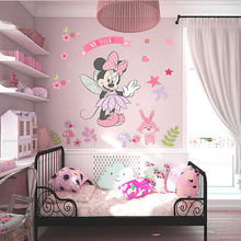 Beautiful Minnie Wall Sticker Vinyl Mural DIY Girls Bedroom Decor Decals Children Kids Gift