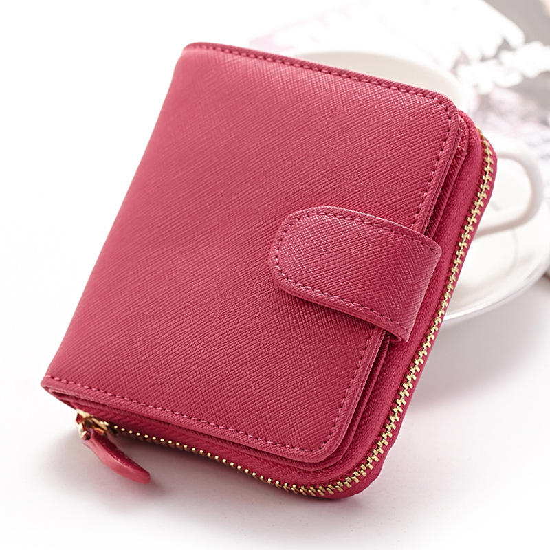 Fashion Colors Women Wallets Short Cow Split Leather Zipper Small Wallet Purse Cards Holder For Girls Coin Bag<br><br>Aliexpress