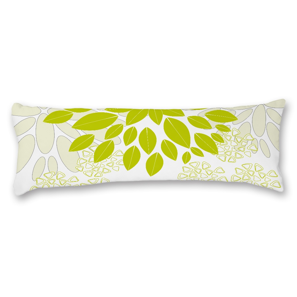 Green Leaves Pattern Custom Long Pillow Covers 20*54inch Body Pillow Cases Cover Home Bedding Decorative Pillowcase Family Gift