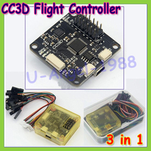 1 piece OpenPilot CC3D Flight Controller STM32 32-bit Copter Control Board For Rc Model With Yellow Protective Case