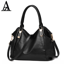 Aitesen 2017 Women Shoulder Bags Black Casual Tote Top Handle bags Crossbody Large Bag michael Handbag Female Big Large Capacity(China)