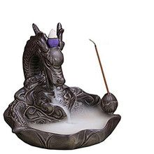 YXYI Backflow Incense Burners with 50 pcs mixed Cones Censer Dragon Stick Holders Home Decoration good for Xmas Gift(China)