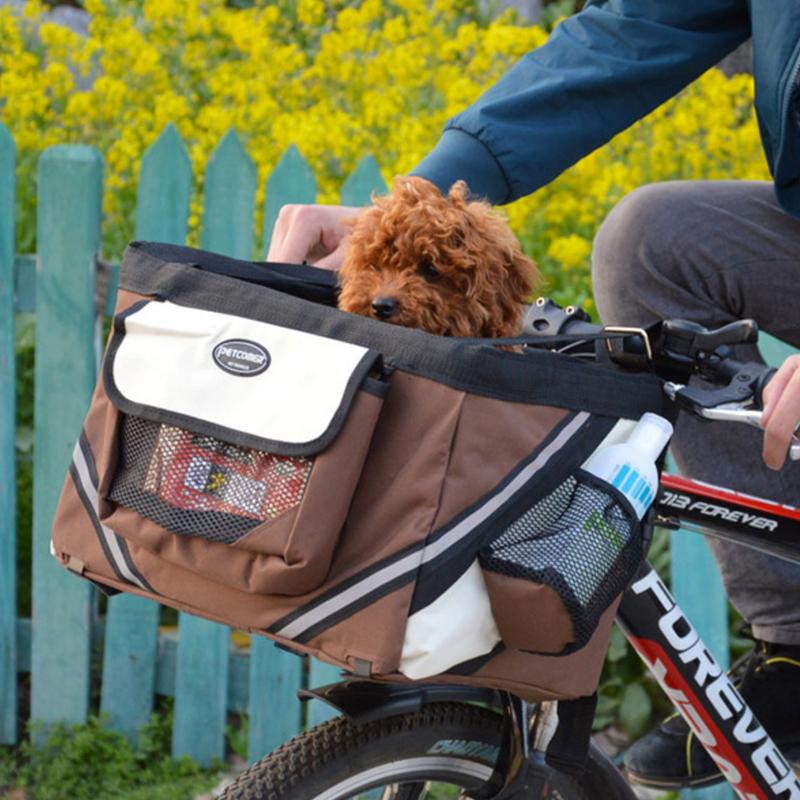 Pet dog bicycle carrier bag8