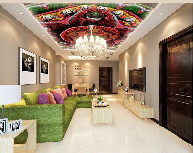 Custom wallpaper 3D, abstract color flower murals for the living room bedroom KTV ceiling wall waterproof papel de parede <br>
