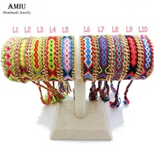 AMIU Jewelry Friendship Chain & Link Wrap Embroidery Cotton Woven Rope Friendship Bracelets Brazilian For Women Men Dropshipping(China)