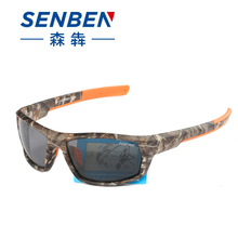 SENBEN Fashion Summer2017 Fashion Outdoor Sports Camouflage Polarized Sunglasses Goggles Driving Fishing Running Oculos De Sol(China)