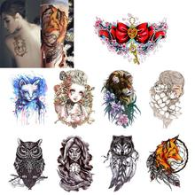 Hot Sale! New 1pc 9 Color Chinese Style Waterproof Body Art Decoration Temporary Tattoo Stickers For Women Girls AU30(China)