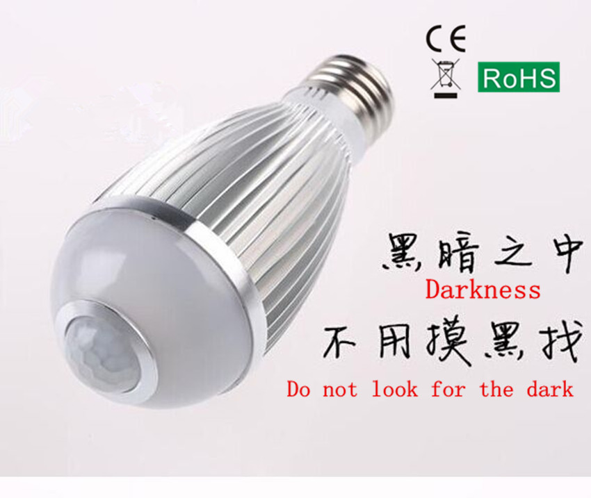 led sensor light bulb aisle balcony intelligent human infrared sensor E27 screw taste should Nightlight Xiaoming<br><br>Aliexpress
