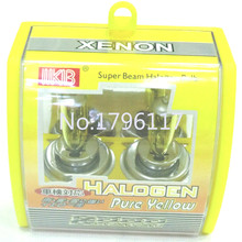 100 X Golden Yellow H4 Car Xenon HID Halogen Head Light Quality Auto Lamp  Headlight bulb Fog light bulb H4 12V100/90W 3000K