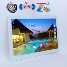 New!10.1'' Android 4.4 Tablet PC MTK6582 1280*800 IPS HD Screen Quad Core 3G GSM WCDMA Phone call PC 16G ROM 1G RAM Metal shell