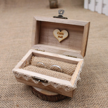 Rustic Wedding Ring Box Holder ,Custom Ring Box, Personalized Wedding / Valentines Engagement Wooden Ring Bearer Box