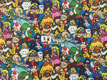 145X100cm  Cartoon Super Mario Bros Family Polyester Fabric for Baby Clothes Sewing Curtain Table Cloth Patchwork DIY-AFCK229
