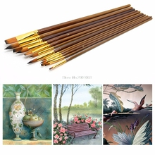 Fine Paint Brushes For Acrylic Painter Artists Sizes Brush Painting Set H06(China)