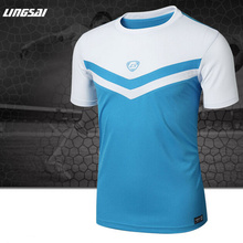 LS Summer Style Design men Tennis shirt Outdoor sports O-neck Quick Dry Slim Fit badminton men's Short-sleeve t-shirt tops tee