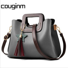COUGINM Fashion Women Bag Pu Leather Tote Brand Name Bag Ladies Handbag Lady Solid Female Messenger Evening Bags Travel(China)