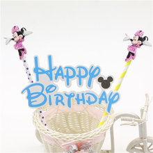 mickey minnie mouse cake topper pickers for Kids happy birthday party decoration supplies baby shower  cake decoration