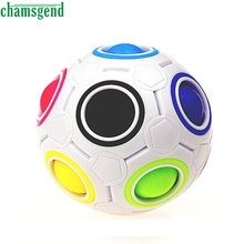 2017 Pop Rainbow Magic Ball Plastic Cube Twist Puzzle Toys For Children's Educational Toy Teenagers Adult Stress Reliever M3233