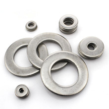 50PCS-M1.6/2/2.5/3/4/5/6   DIN125 304 Stainless Steel Flat Washer / Thin Metal Washer / Thick Flat Washer Meson