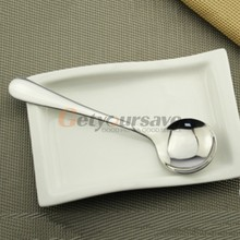 5 sizes High-grade Stainless Steel Coffee Tea Spoon Kitchen Supplies Metal Round Spoons Soup Adle Tea Drink Condiment