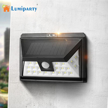 Lumiparty  IP65 waterproof 24 LED solar light Wide Angle Security Motion Sensor Light with 3 Modes Motion Activated for Patio