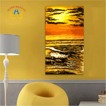 Diy Digital Painting Seascape Cheap Large Wall Painting For Kitchen Sunset Picture Hand-painted Acrylic Paint By Numbers SY049