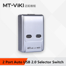 MT-VIKI 2 Port Auto USB 2.0 Selector Switch Printer Flash Driver Mouse Sharing Switcher Hotkey Software Control