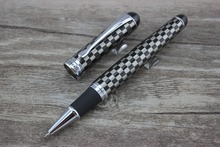 1 X Advanced Executive Rollerball Pen Jinhao 750 Black & Silver Square Pattern Pen