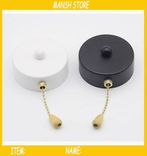 Loft Iron Wall Switch With Chain For Lamp Fan Wall Light Controller 5pcs/lot Free Shipping
