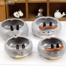 NOOLIM Lovely Cigar Ashtray Home Decor Cartoon Totoro Craft Gifts Ashtray Smoking Accessories for Smokers Office Decor