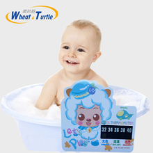 2Pcs/Lot Cartoon LCD Bath Thermometer Infant Baby Bath Water Temperature Digital Bath Thermometer Plastic Temperature