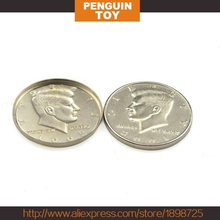 1 PCS/Magic Toys Half Close-up Magic Magic COINS COINS  dollar/Expanded shell Dollars COINS
