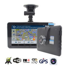 "TOPSOURCE 7"" Car DVR GPS Navigation Android 16GB/512MB 1080P Car DVR Camera Recorder Truck gps WiFi Bluetooth Navitel Free Map"