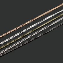 5 Meters/lot 3x2mm Iron Metal Chains Rhodium/Sliver/Gold/Bronze/Gunmetal Plated Necklace Chains for Jewelry Findings Making