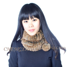 FREE SHIPPING CX-S-160E Knitted Genuine Rex Rabbit Fur Neck Warmer For Wholesale