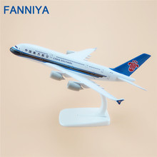 20cm Metal Plane Model Air China Southern Airlines Airbus 380 A380 Airplane Model Airways w Stand Aircraft Kids Gift(China)